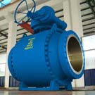 large size high pressure 3-pc cast steel trunnion mounted ball valve